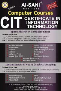 Computer Institute Brochure Designing