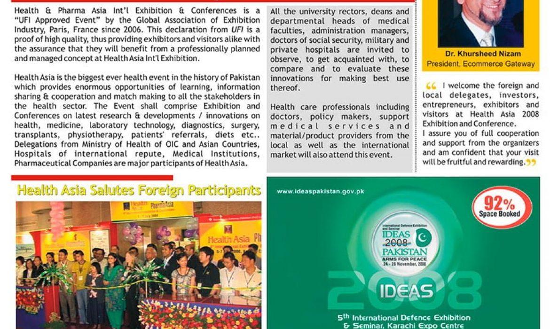 Event Bulletin Designing - Health Asia 2008