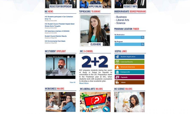 International Horizons College Wordpress Website